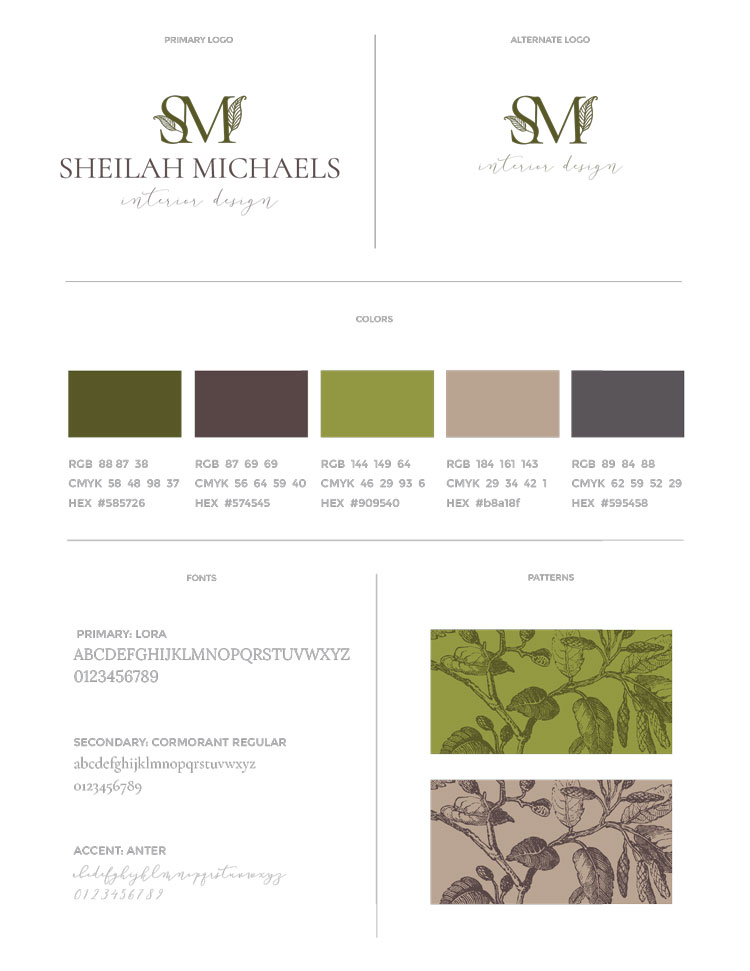 Sheilah Michaels Mini Brand Style Guide