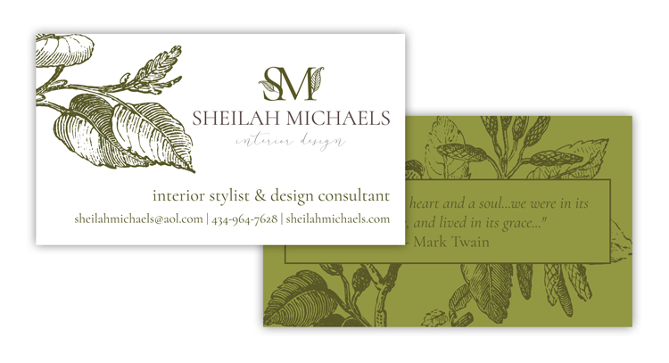 Sheilah Michaels Business Card