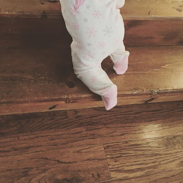 Being home with the kids all week because of the blizzard was a humbling reminder of why I started my business. I love my flexible hours so I can be there with them.  Starting your own business is all about the baby steps. It is so worth it when you reach your goal.  Ps. This is the first time she climbed the stairs. 😍