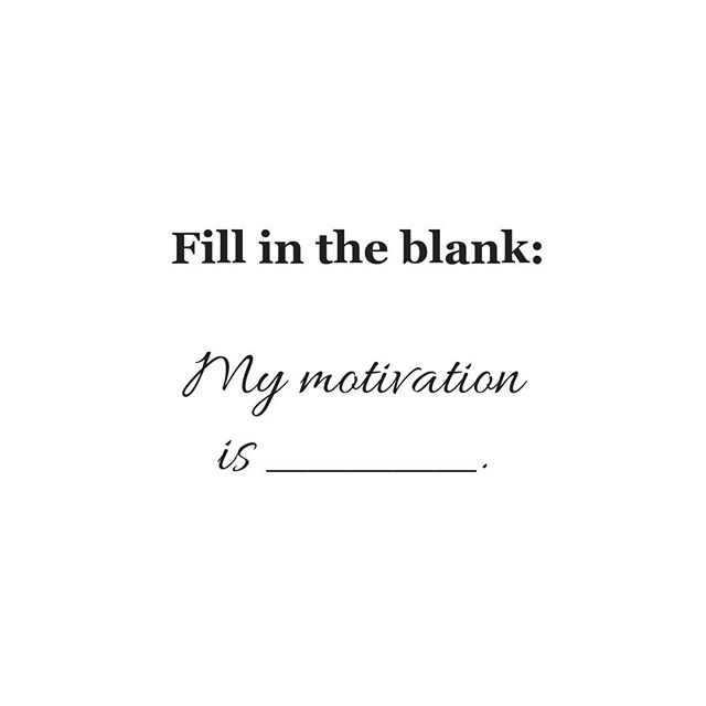 What's your MOTIVATION for starting your business? Fill in the bank and tell me in the comments section!⠀ ⠀ My motivation is my children. I started freelancing so I could make my own hours and be a stay at home Mom. Best decision of my life!⠀ ⠀ I wrote a blog 💻 post about it 👉 https://buff.ly/2GaiQlL