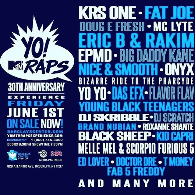 WOW. #yomtvraps30thanniversary #MTV #yomtvraps #HeftyLineUp #GoldenAgeofRap #realhiphopmusic #Brooklyn