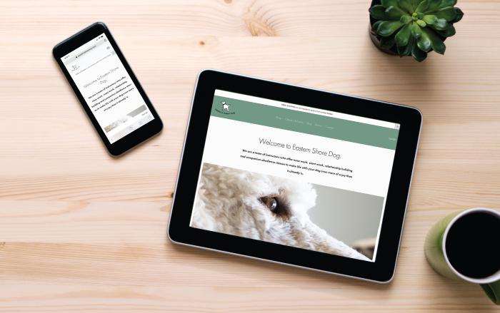 EASTERNSHOREDOG.COM - FEATURES:Fully ResponsiveSEO OptimizedOnline (E-Commerce) StoreOriginal Product Photos By LW Design Group