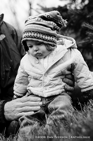 Five-month-old Stella reacts to seeing snow for the first time as the first major snowfall of the season moves in Dec. 3 in New Market, Minn.