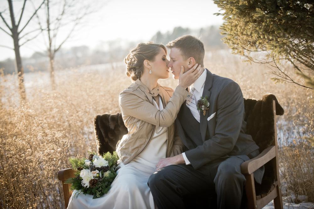 Winter wedding styled shoot Northfield MN