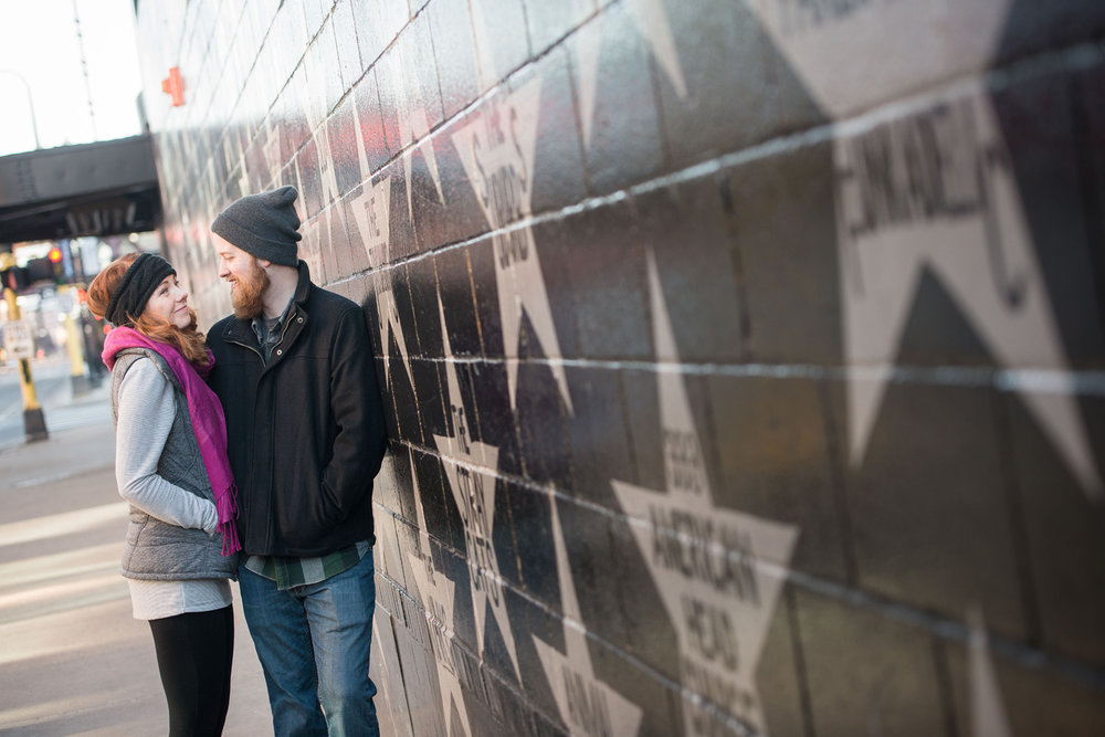 first avenue minneapolis engagement photo session
