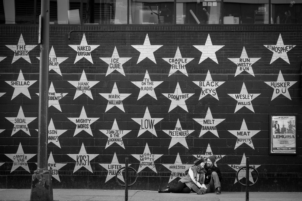 the iconic star wall of fame outside first avenue in minneapolis