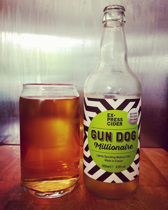 Gun Dog Millionaire from Ex-Press Cider delicious award winning cider! #ciderlover #cider #ciders #ciderlife #cidertime #cidergram #cidertasting #ciderdrinker #craftcider #craftciders #craftbeer #craftbeers #realcider