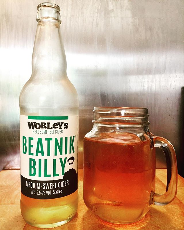 Beatnik Billy Medium-Sweet Cider from the great @worleys_cider #realcider #craftciders #craftcider #cider #ciders #cidergram #cidertime #ciderlife #ciderlover #cidertasting #ciderdrinker #ciderlove