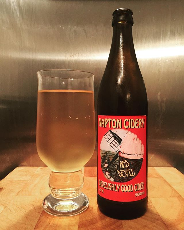 Red Devil from @naptoncidery 😃 #Cider #Ciders #CraftCider #CraftCiders #CraftCiderPorn #RealCider #RealCiders #CiderTasting #CiderDrinker #OrchardBox