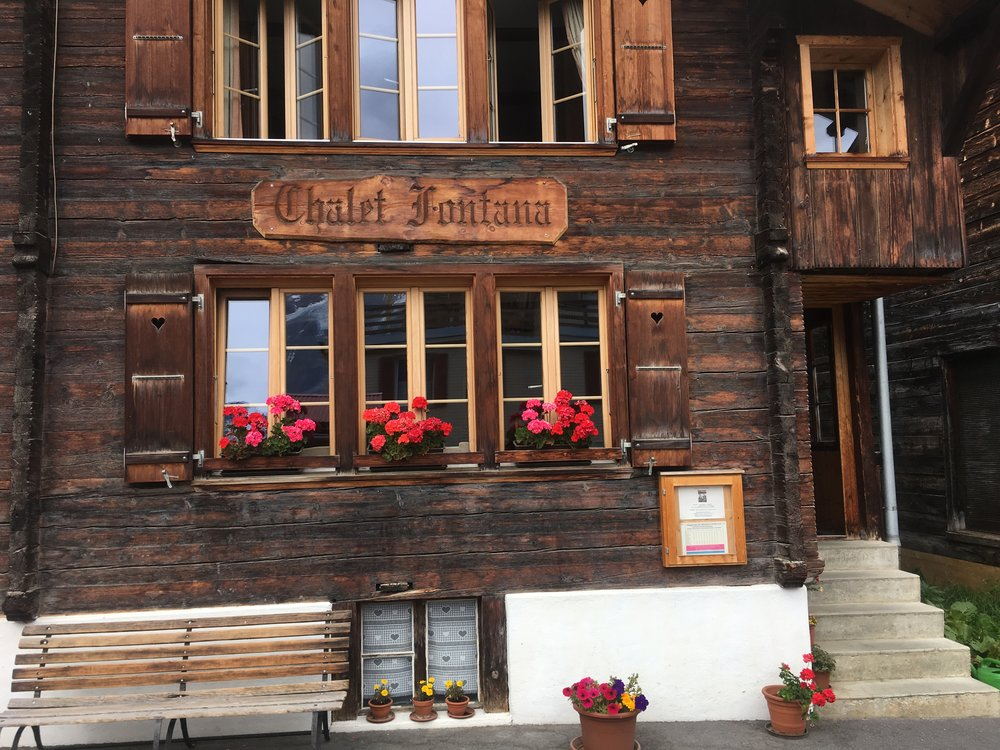 Chalet Fontana in Mürren, Switzerland.