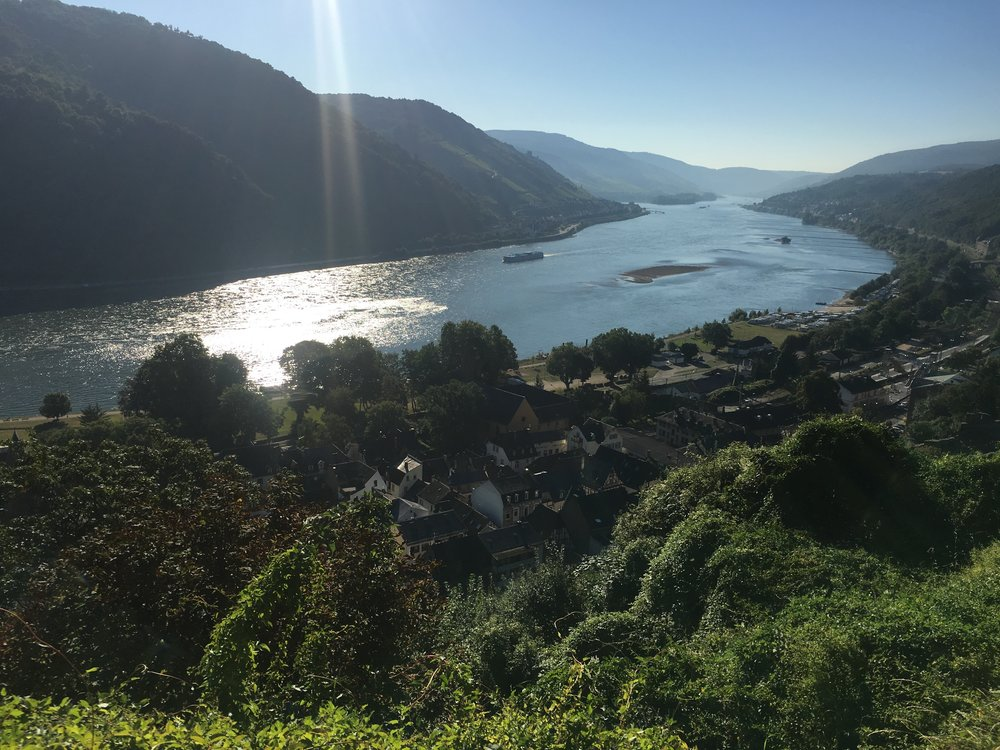 A view of the Rhine River from our hostel in Bacharach, Germany.
