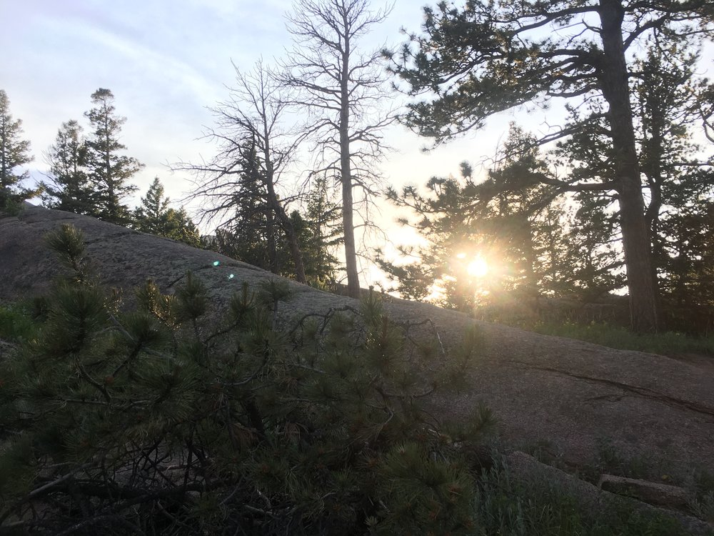 Taken on the summer solstice in the Medicine Bow National Forest, Wyoming.