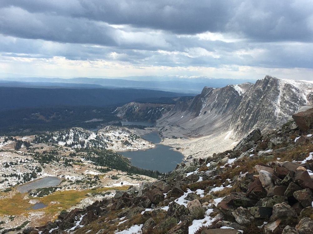 View from the summit of the Snowy Range in Wyoming.