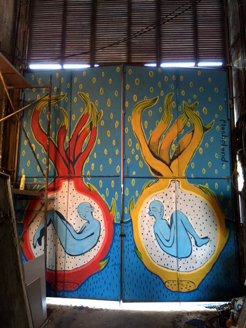 Dragon Fruit Embryos Mural