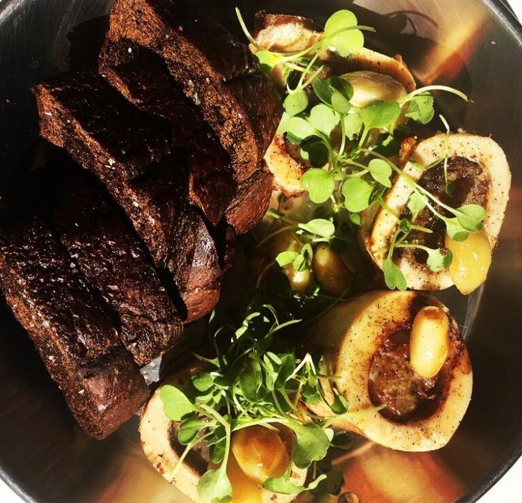 Bone Marrow #garlic #blackrye #chefsontheruncatering
