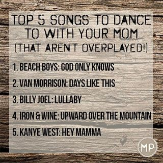 In honor of #mothersday, we've come up with our top 5 favorite songs to dance to with your mom on your wedding day--and let's be honest, no list is ever complete without #yeezy. What is your favorite song that reminds you of your mom?