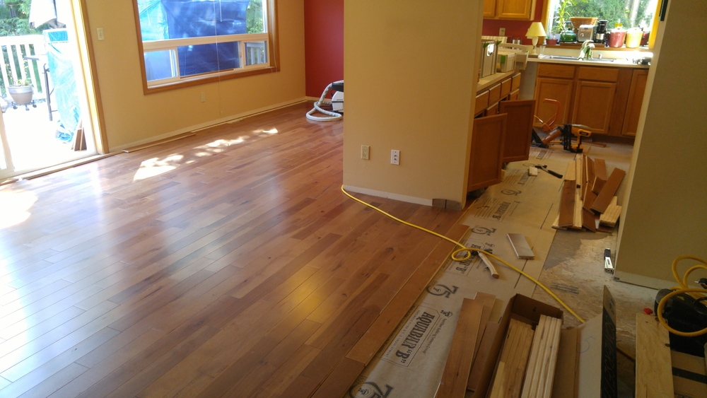 Hardwood, is hard to install.