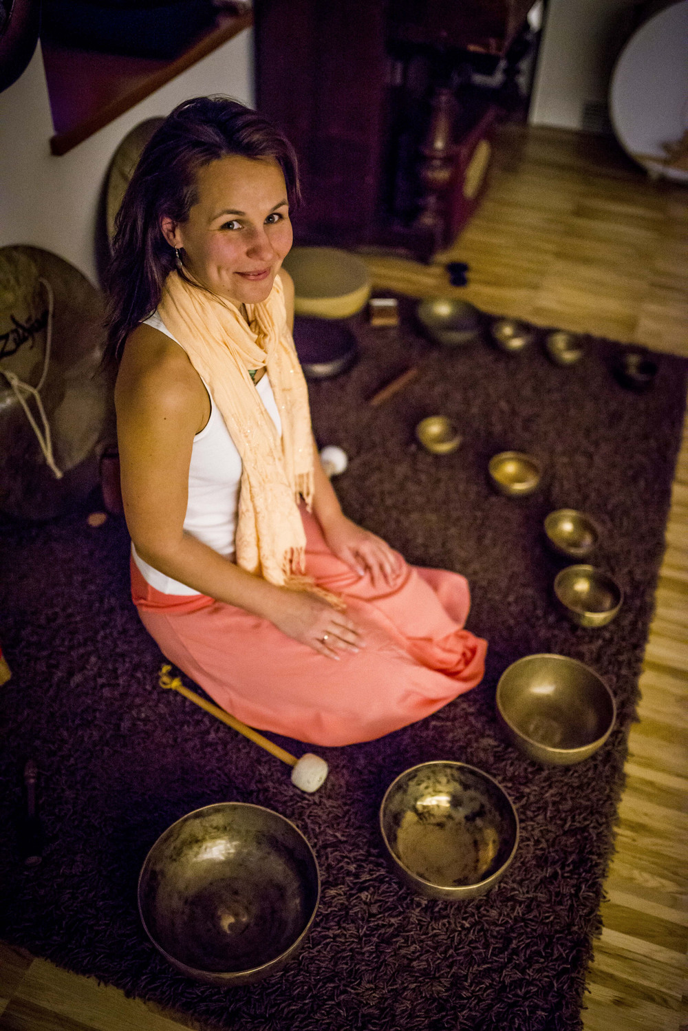 Szilvia  is a sound-based yoga teacher with a proven background in health and fitness. Her classes are much loved and light and fun.