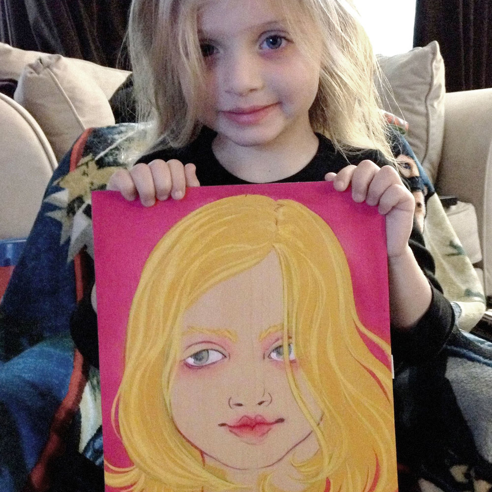 One backer requested a portrait of his daughter
