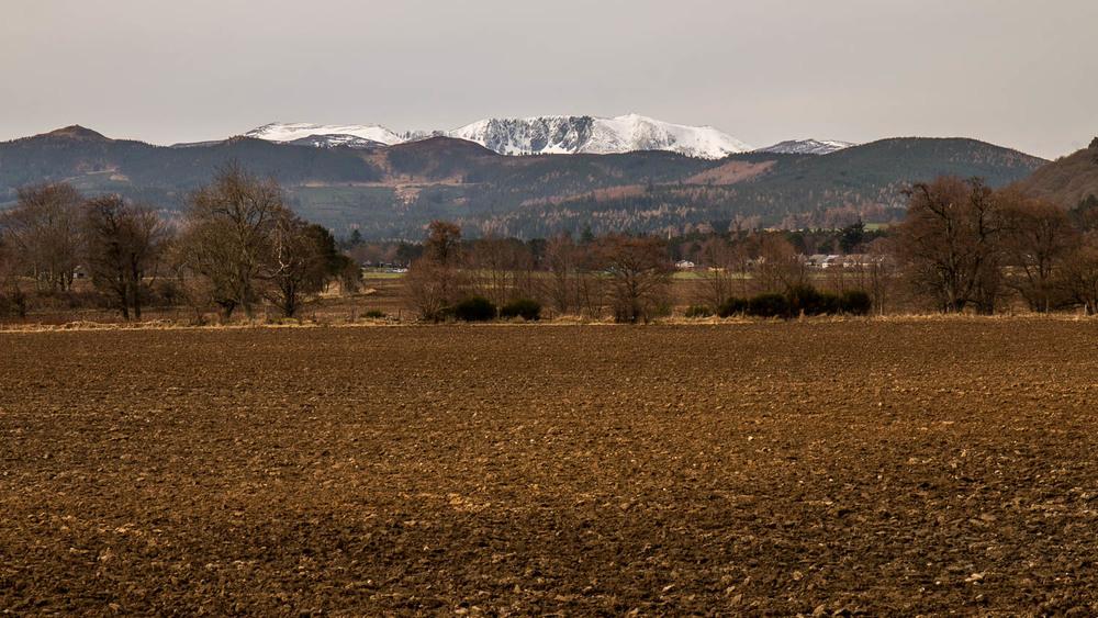 Lochnagar from just east of Ballater.