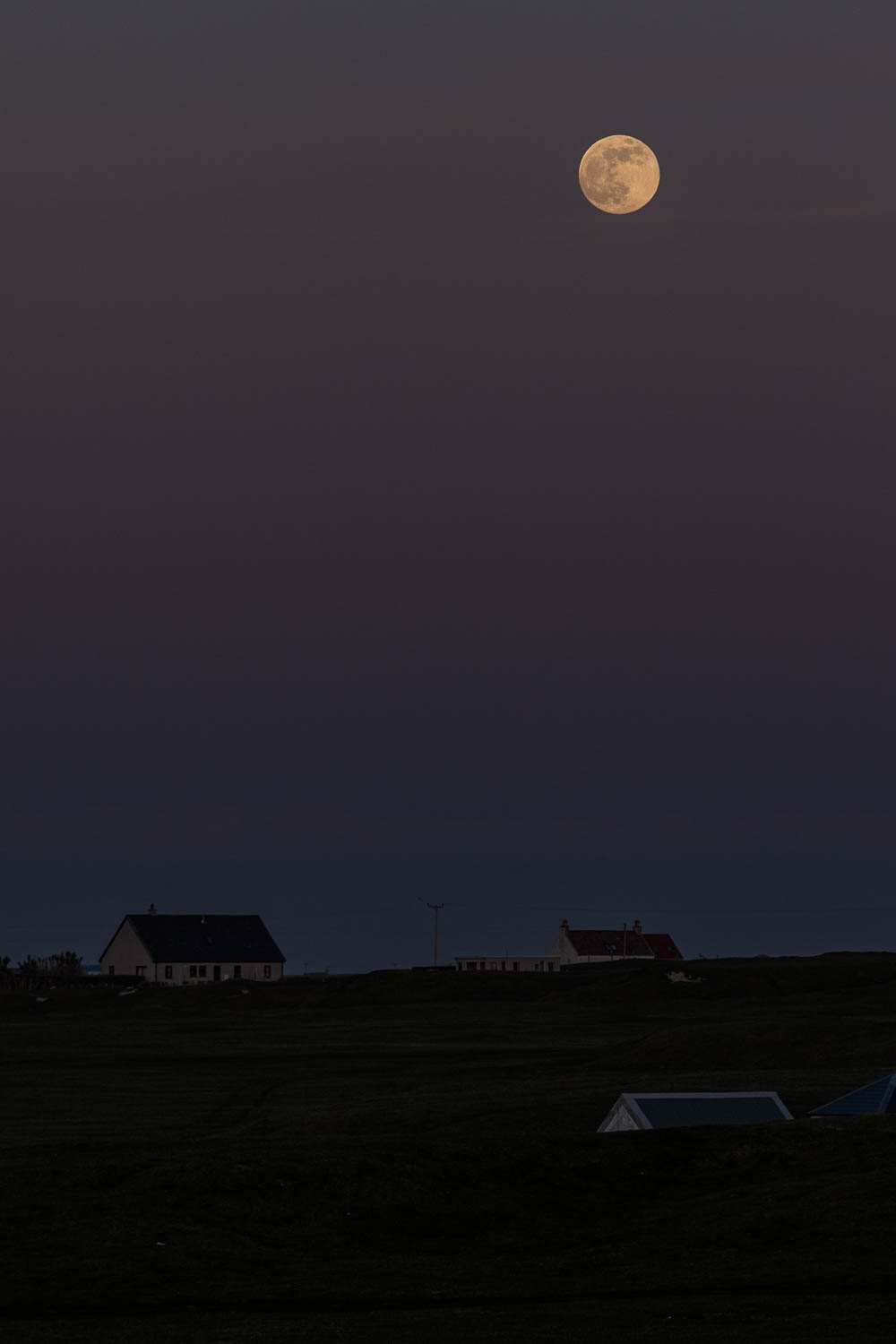 Moonrise over Tiree.