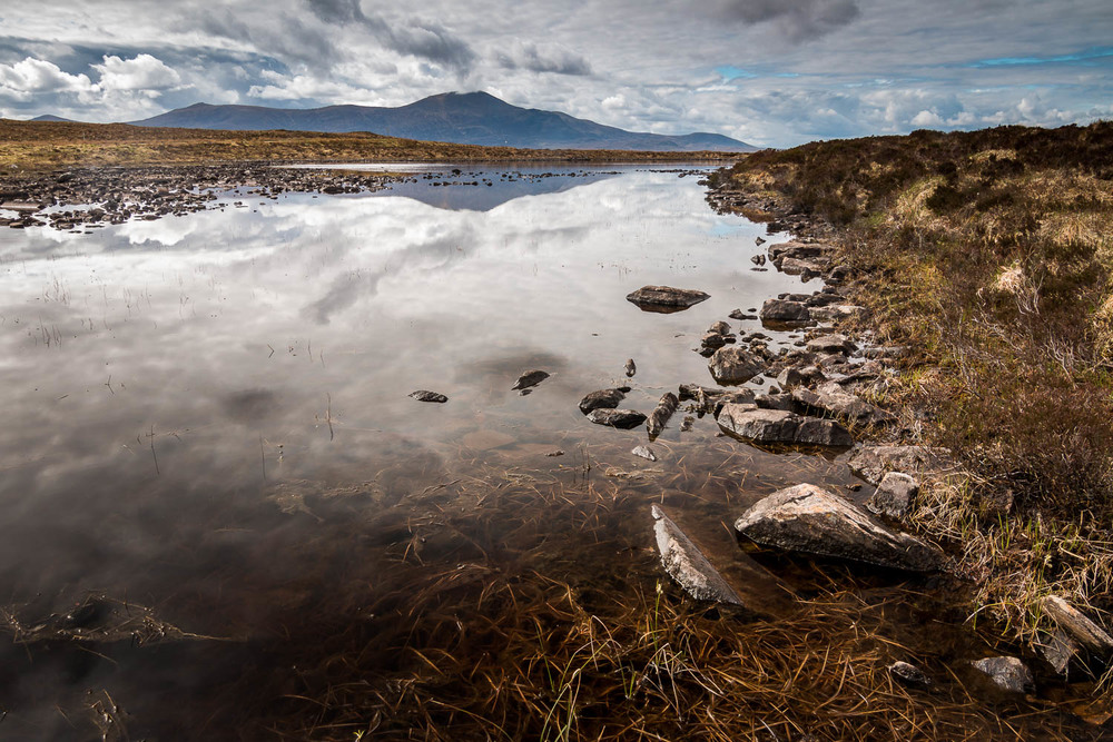 Unnamed Lochan, next to Loch Staing beside the A836 looking to Ben Klibreck.
