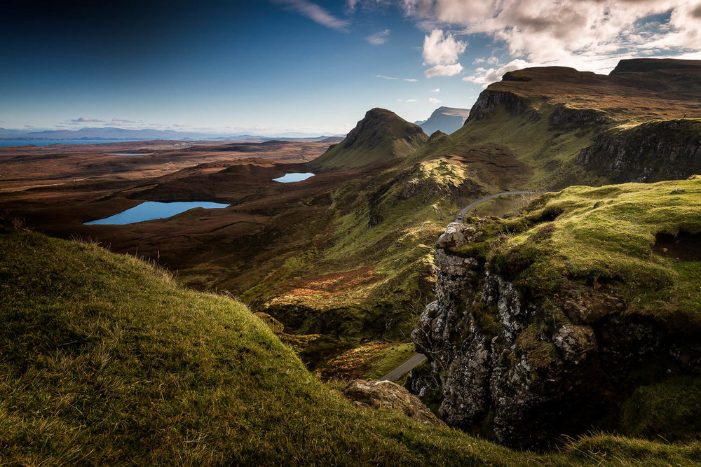 The Quirang, looking south along the Trotternish Ridge.