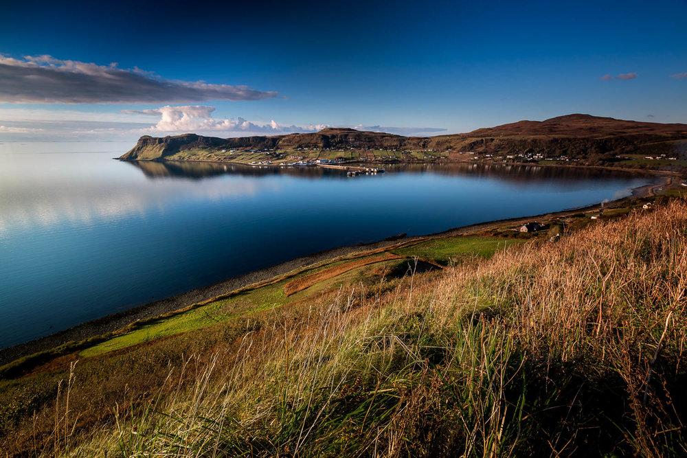 Looking across Uig Bay, Loch Snizort toward Idrigill.
