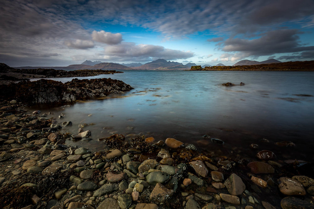 Looking across Loch Eishort to the Elgol Peninsula and the Black Cuillins.