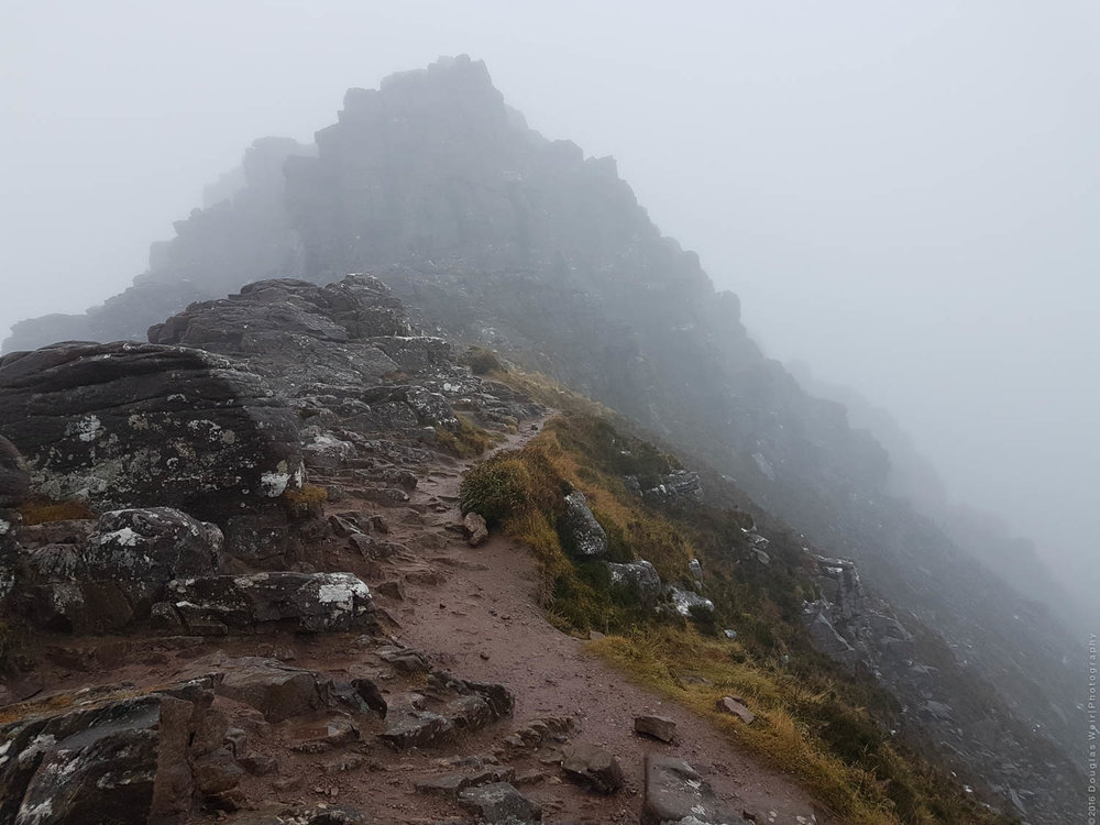 A rather damp and cloudy Stac Pollaidh.