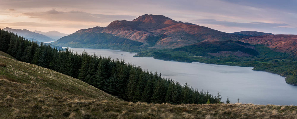 Last Light on Ben Lomond.