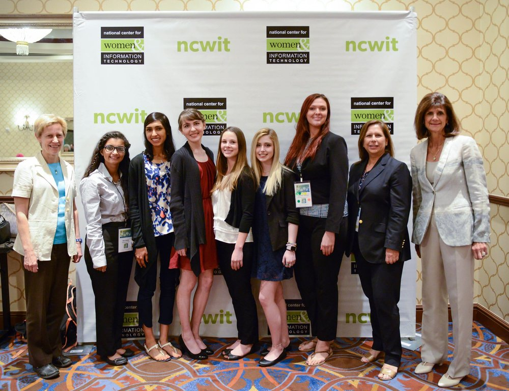 NCWIT awards with Pat Russo and Janice Zdankus