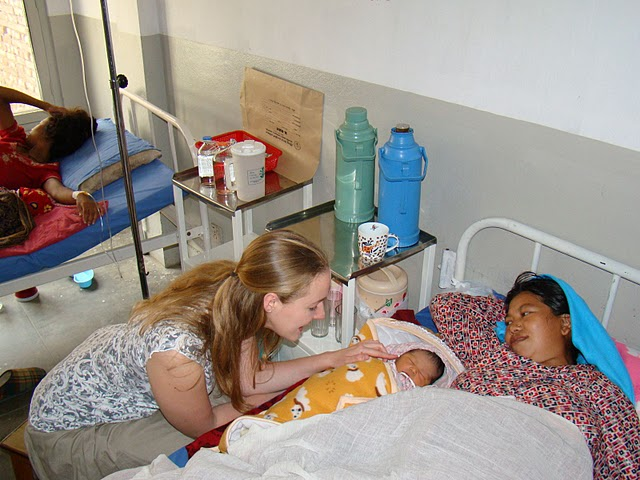 Volunteer and new mother, Kathmandu