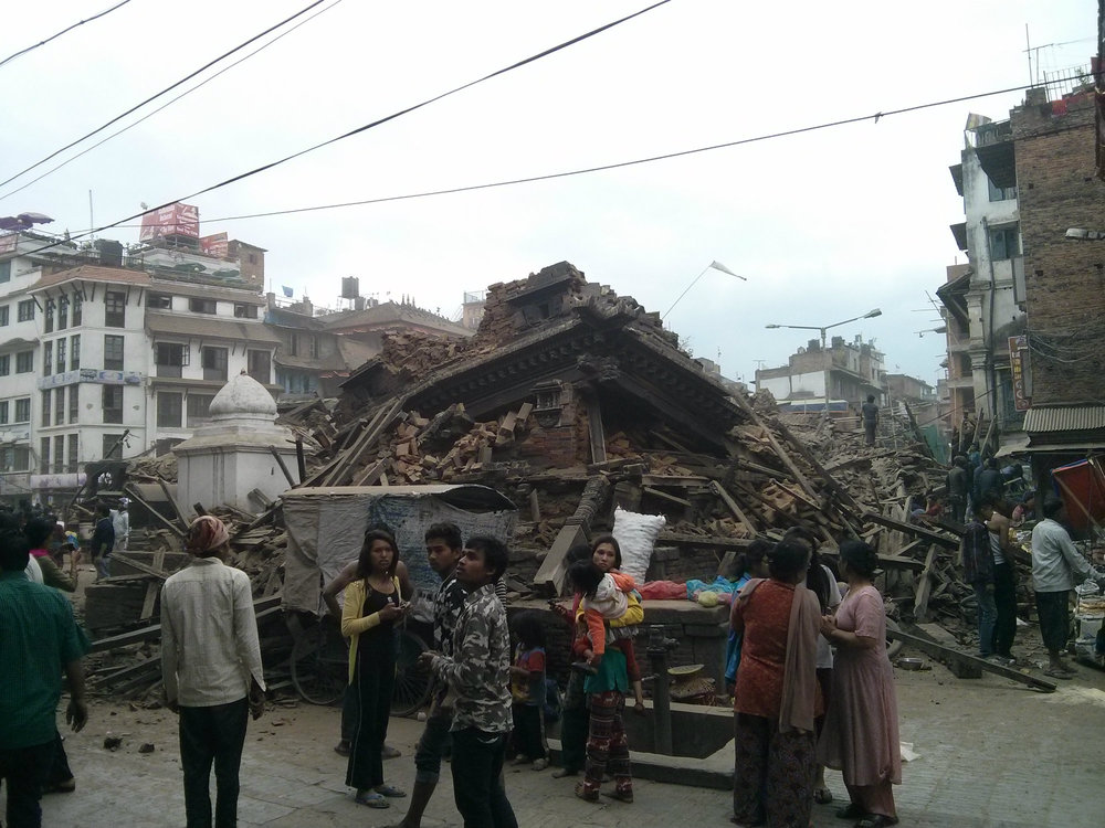 Devastation in Bhaktapur