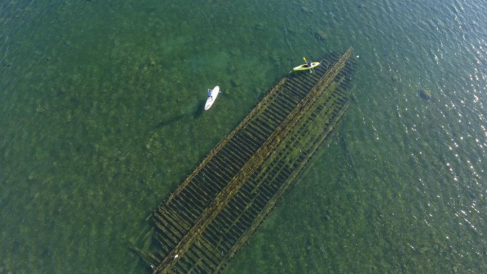 Kayaking a shipwreck in Harbor Beach