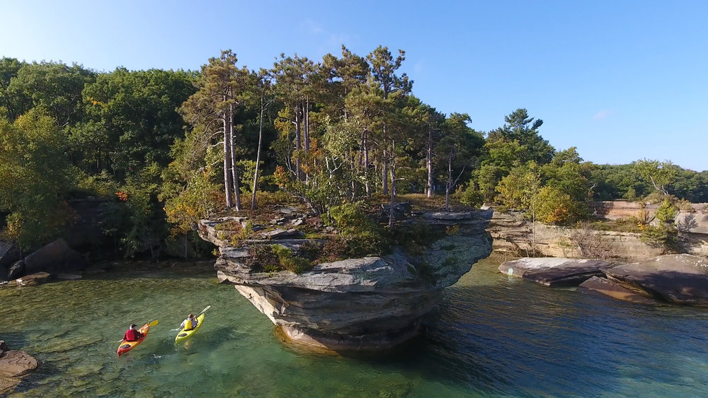 Turnip Rock in Port Austin