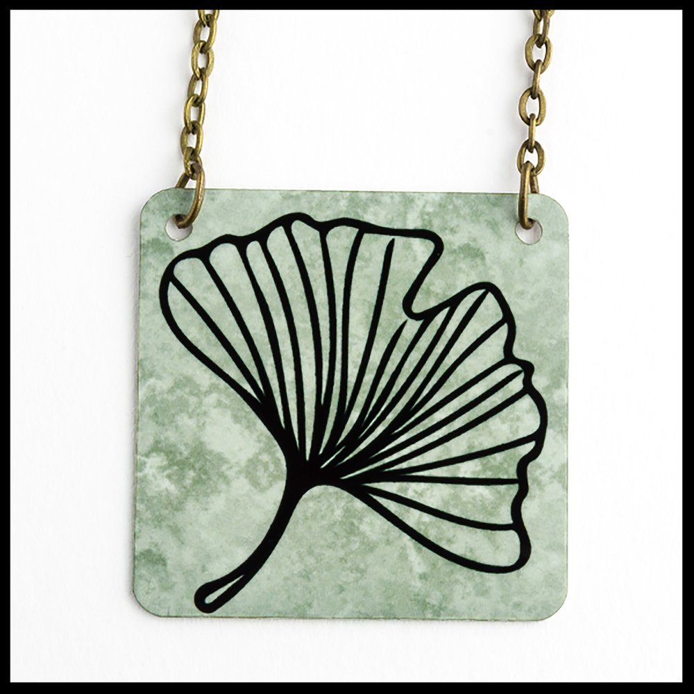 Ginkgo Square Necklace