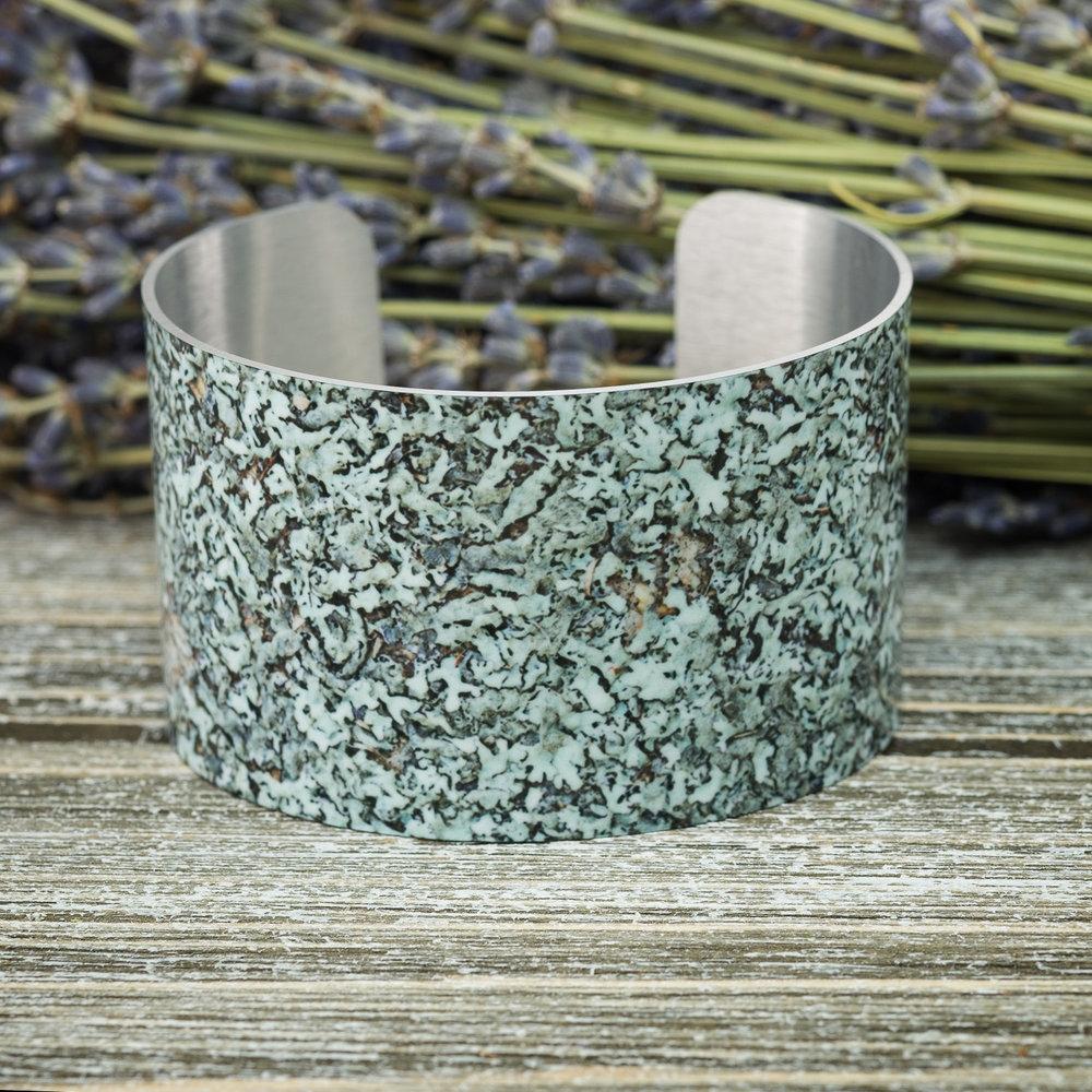 Lichen Wide Cuff Bracelet