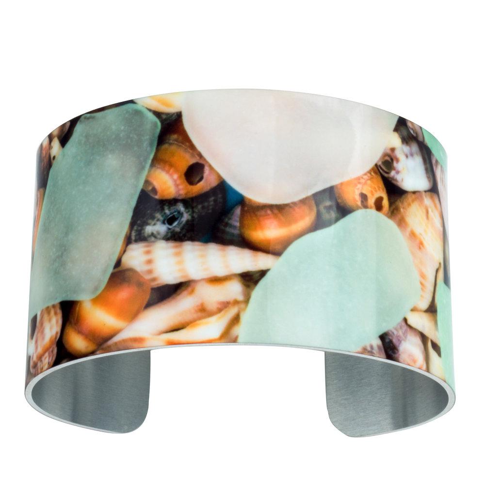 Sea Glass and Shells Bracelet