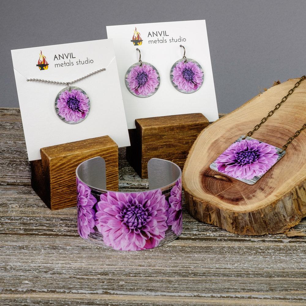 Pink and Purple Dahlia