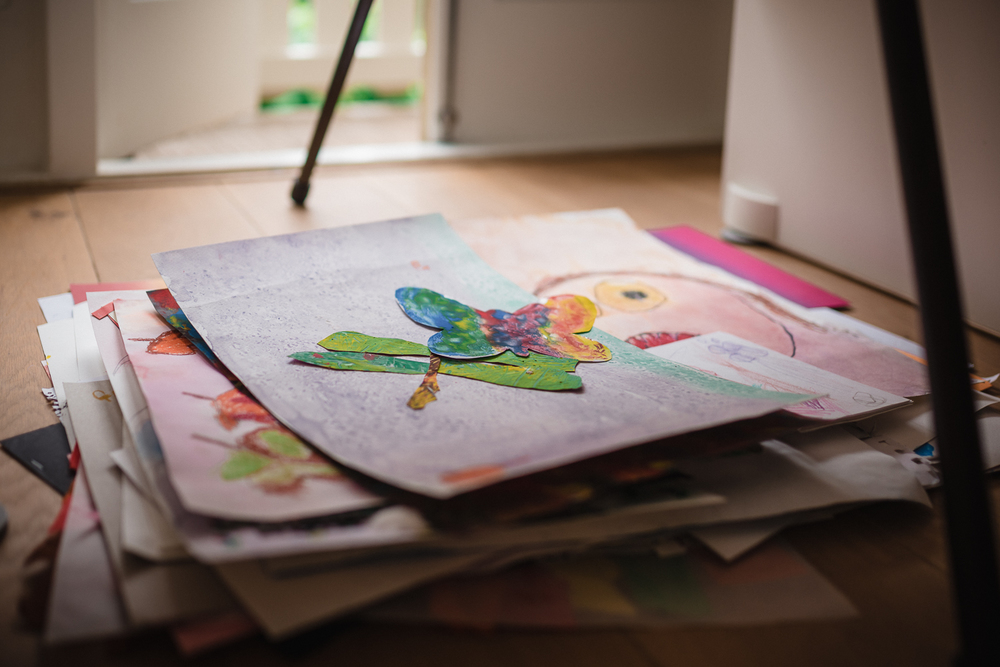 how to turn your kids artwork into a book - set up - 2