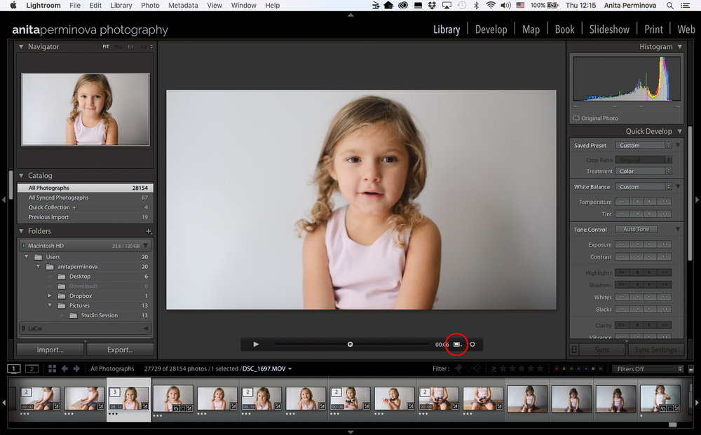 color grade your video in LR by Anita Perminova Amsterdam Photographer step 1 capture frame