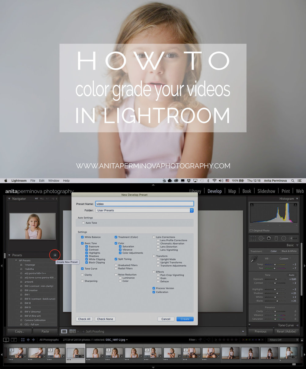 how to color grade your videos in lightroom by Anita Perminova