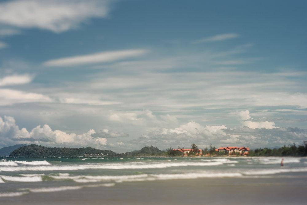 morning walk beach view Sabah Kota Kinabalu Malaysia