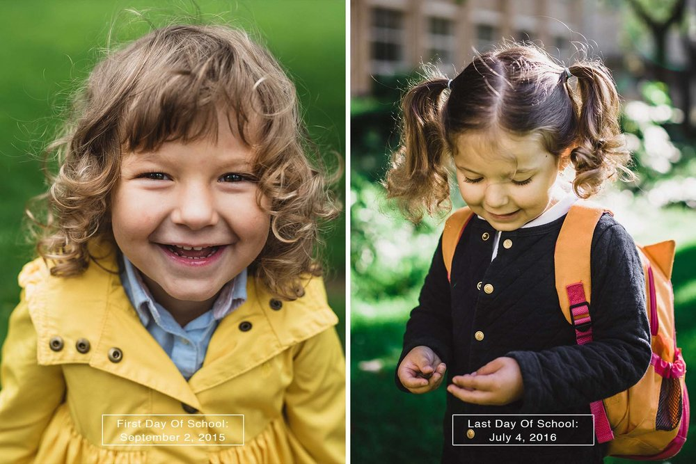 first day vs. last day of school amsterdam portrait photographer and filmmaker