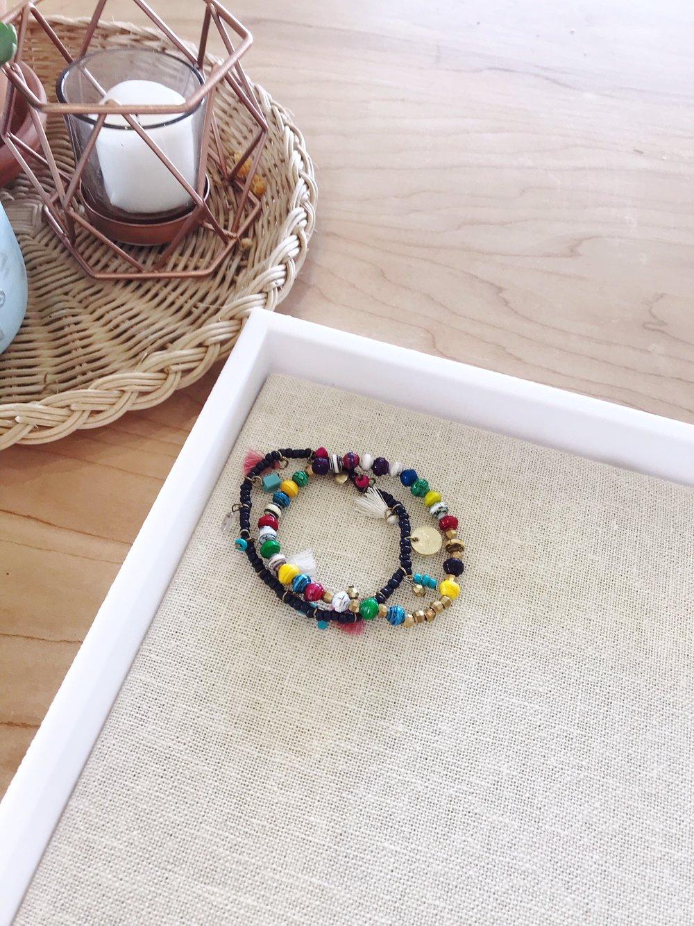 Dancing Charm + Paper Play Bracelet $12