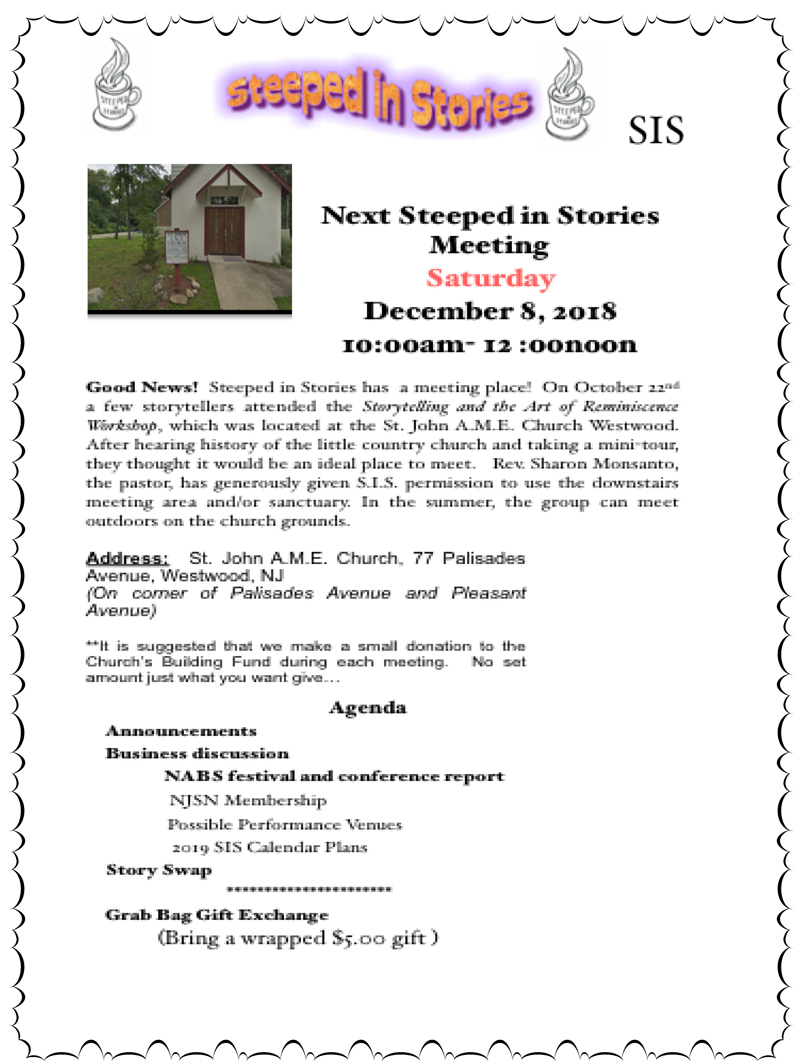 New Jersey Events — New Jersey Storytelling Network