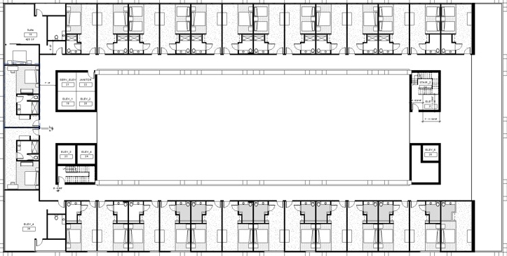 23rd  FLOOR - TYP. HOTEL FLOOR PLAN