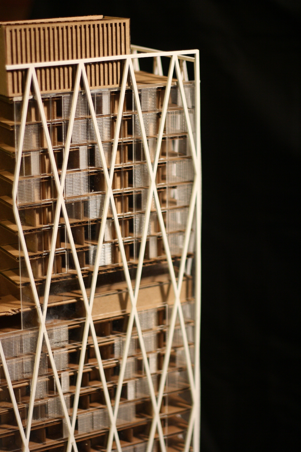 "1/16"" SCALE MODEL - FACADE DETAIL"