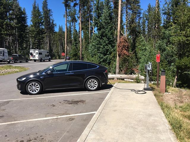Charging at Crater Lake